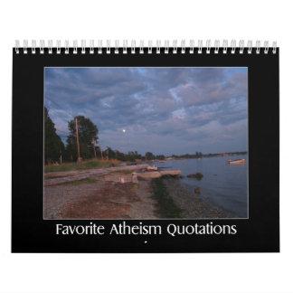Citas preferidas del ateísmo calendario de pared