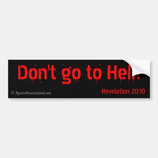 Citas religiosas etiqueta de parachoque