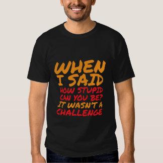 Citas sarcásticas de la camiseta divertida para la camisas