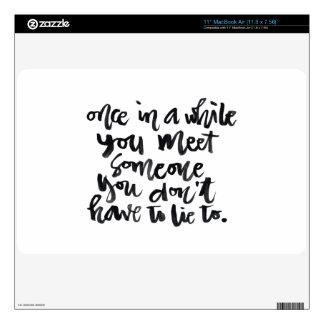 Citas sobre vida: De vez en cuando usted reunión… MacBook Air 27,9cm Skin