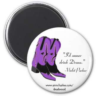 Citas violetas de Parker de los imanes de Ana Char Imanes Para Frigoríficos