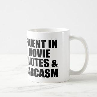 Citas y sarcasmo de la película taza básica blanca
