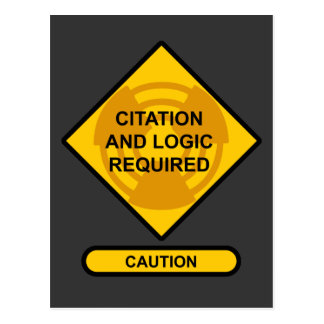 Citation and Logic Required Postcard