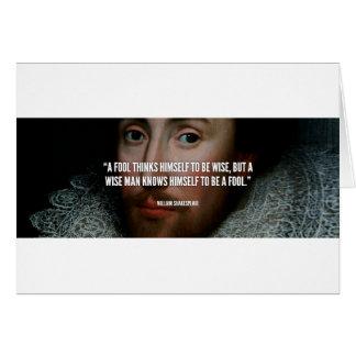 Citation fool Shakespeare