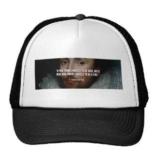 Citation: fool, Shakespeare Trucker Hat