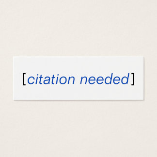 Citation needed mini business card