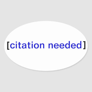 Citation Needed Stickerbomb Oval Stickers