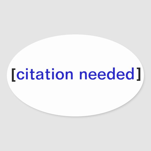Citation Needed Stickerbomb Oval Sticker