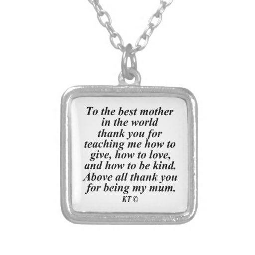Cite a la mejor madre del mundo colgante cuadrado