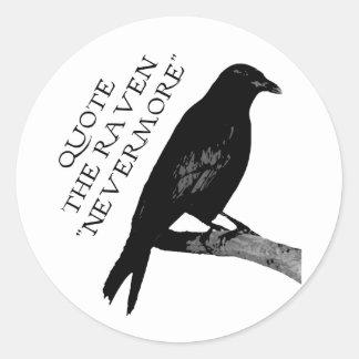 Cite el cuervo pegatina redonda