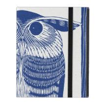 Cite Modern Owl In Blue iPad Folio Case