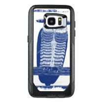 Cite Modern Owl In Blue OtterBox Samsung Galaxy S7 Edge Case