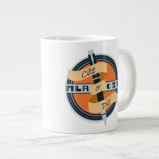 """""""Cite or Die"""" Beverage Receptacle 20 Oz Large Ceramic Coffee Mug"""