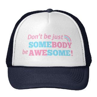 Cite para ser impresionante, no apenas alguien gorra