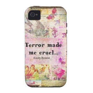 Cite por Emily Bronte - el terror me hizo cruel Case-Mate iPhone 4 Fundas