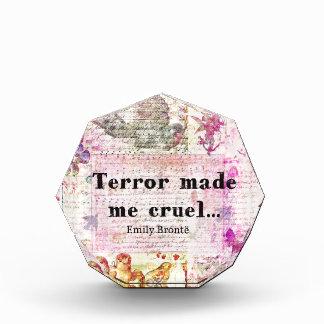 Cite por Emily Bronte - el terror me hizo cruel