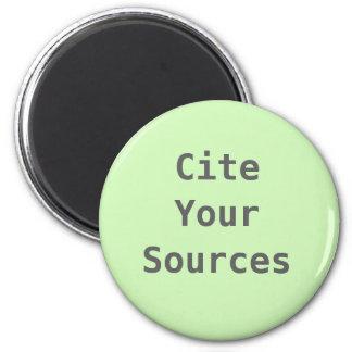 Cite Your Sources Magnet