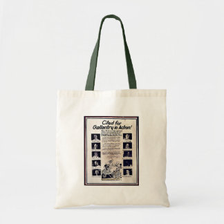 Cited For Gallantry In Action Canvas Bags