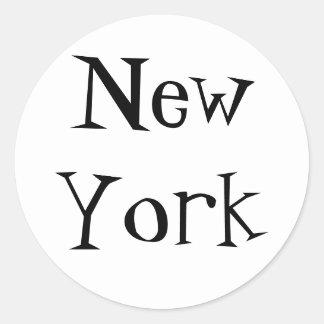 Citees - New York Round Stickers