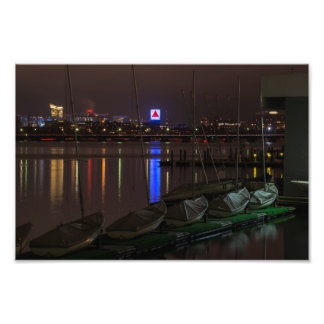 Citgo Sign through the boats on the Charles River Photo Print
