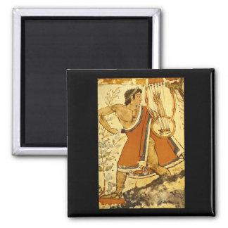 Cithera Player', Etruscan_Art de la antigüedad Imán Cuadrado