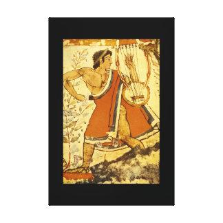 Cithera Player', Etruscan_Art de la antigüedad Impresión En Lona