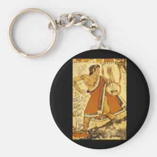 Cithera Player', Etruscan_Art de la antigüedad Llavero Redondo Tipo Pin