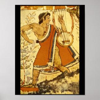 Cithera Player', Etruscan_Art de la antigüedad Póster
