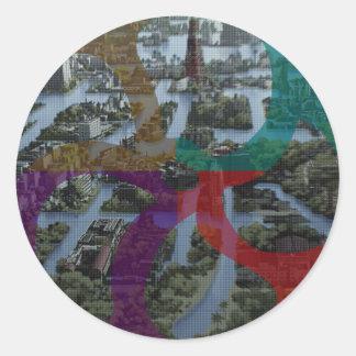 CITI SCAPE Improvisation Landscape Architecture Classic Round Sticker