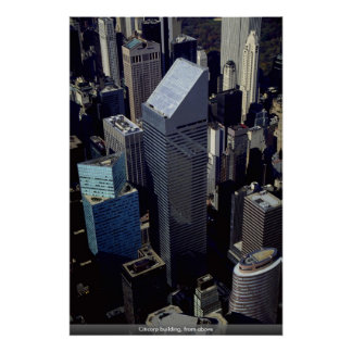 Citicorp building, from above poster