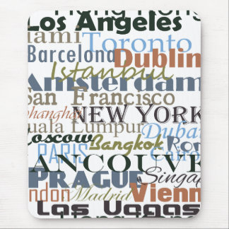 Cities Around the World Mouse Pad