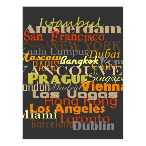 Cities Around the World Postcard