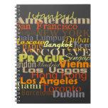 Cities Around the World Spiral Note Books
