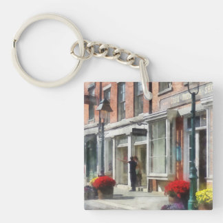 Cities - Giving Directions South Street Seaport Double-Sided Square Acrylic Keychain
