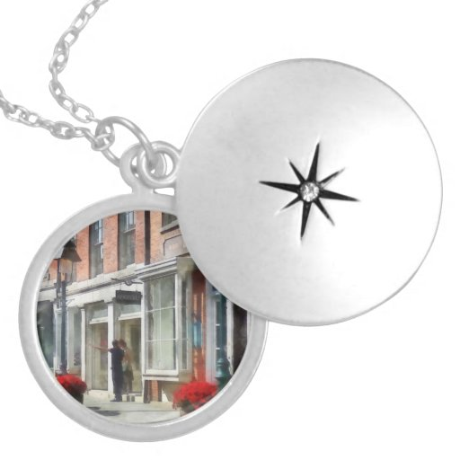 Cities - Giving Directions South Street Seaport Round Locket Necklace