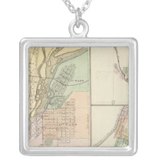 Cities of Centralia & Grand Rapids Silver Plated Necklace