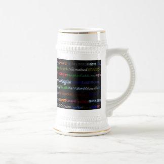 Cities Of The World Text Design I Stein I Mug