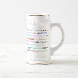 Cities Of The World Text Design II Stein I Mug