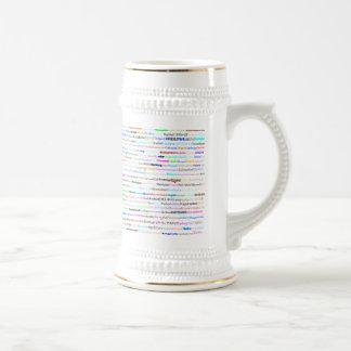 Cities Of The World Text Design II Stein II Mug