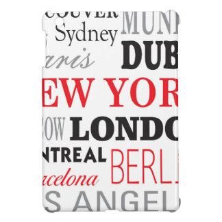 Cities off the world iPad mini cover
