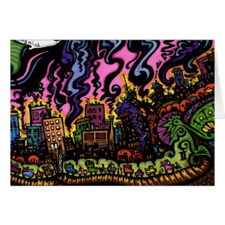 """""""Cities over my shoulder"""" Greeting Card"""