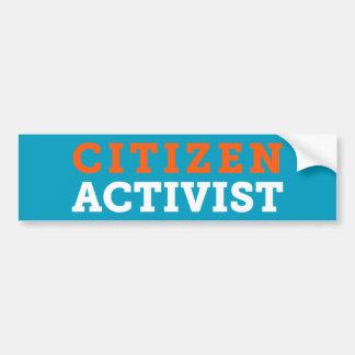 Citizen Activist Blue Bumper Sticker