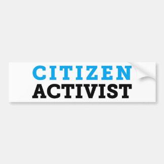 Citizen Activist White Bumper Sticker