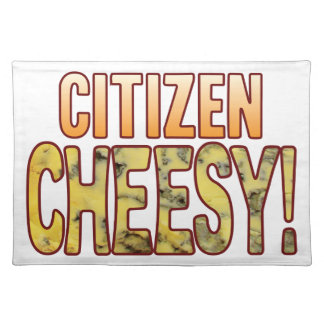 Citizen Blue Cheesy Placemat