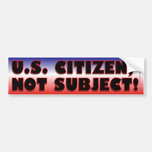 Citizen-bumper Bumper Stickers