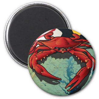 Citizen Crab of Maryland 2 Inch Round Magnet