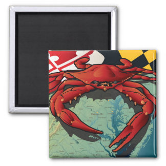 Citizen Crab of Maryland 2 Inch Square Magnet