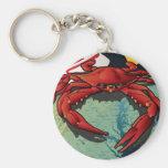 Citizen Crab of Maryland Basic Round Button Keychain