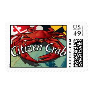 Citizen Crab of Maryland Postage Stamp