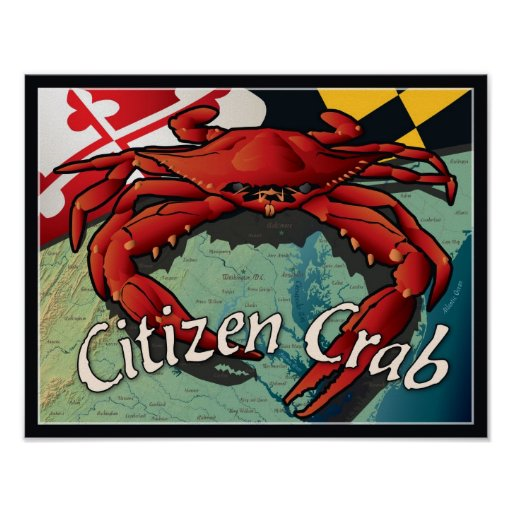 Citizen Crab of Maryland Poster